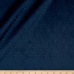Europatex Wave Embossed Velvet Navy Fabric
