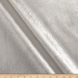 Europatex Fleur De Lis Embossed Velvet White Fabric