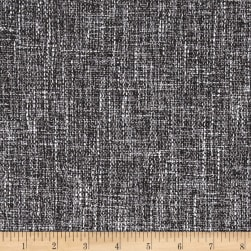 Europatex Pandora Upholstery Basketweave Charcoal/Brown Fabric