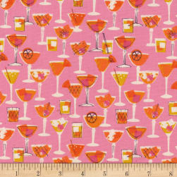 Cotton + Steel Poolside Shaken Pink Fabric