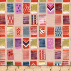 Cotton + Steel Poolside Towels Peach Fabric