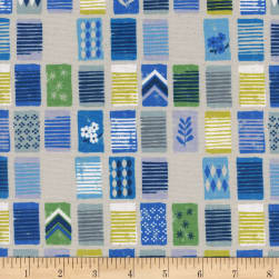 Cotton + Steel Poolside Towels Blue Fabric