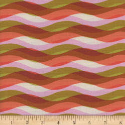 Cotton + Steel Poolside Waves Pink Fabric