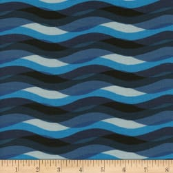 Cotton + Steel Poolside Waves Blue Fabric