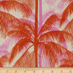 Cotton + Steel Canvas Poolside Palms Pink Fabric
