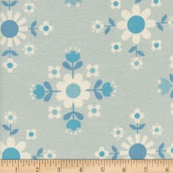 Cotton + Steel Welsummer Florametry Ice Fabric