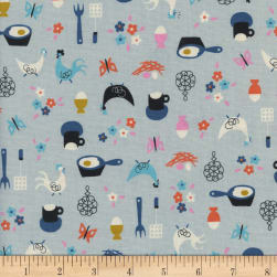 Cotton + Steel Welsummer Kitchen Kitsch Light Blue