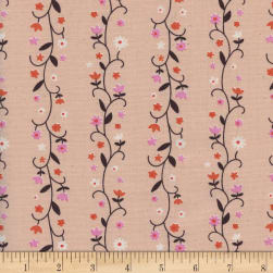Cotton + Steel Welsummer Daisy Vines Peachy Fabric
