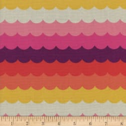 Cotton + Steel Panorama Sunrise Scallops Flame Fabric