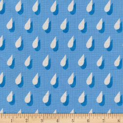 Cotton + Steel Panorama Ocean Drops Blueberry Fabric