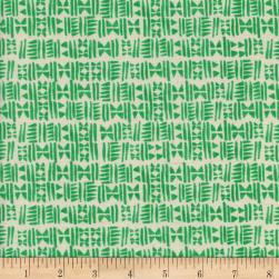 Cotton + Steel Panorama Ocean Stamps Emerald City Fabric