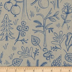 Cotton + Steel Rifle Paper Co. Canvas Amalfi Black Forest Natural Linen Fabric