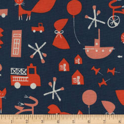 Cotton + Steel Christian Robinson Spectacle Commotion Navy Fabric