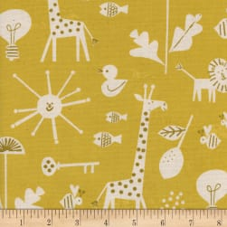 Cotton + Steel Christian Robinson Spectacle Sunbeam Yellow Fabric