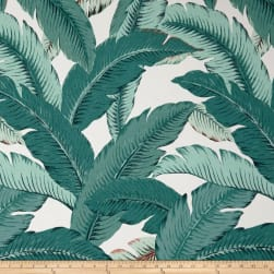 Tommy Bahama Indoor/Outdoor Swaying Palms Teal Fabric