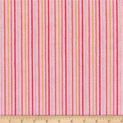 Doodle Pop Doodle Stripes Metallic Green Fabric