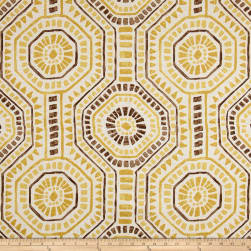 Premier Prints Bricktown Flax Basketweave Brazilian Yellow Fabric
