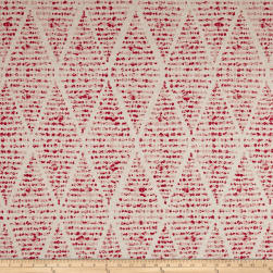 Premier Prints Foster Flax Basketweave Raspberry Fabric