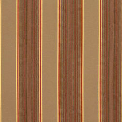 Sunbrella Stripes Davidson Redwood Fabric