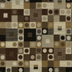 Abbey Shea Checkers Chenille Chestnut Fabric