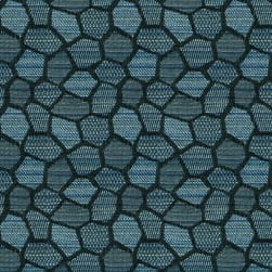 Crypton Honeycomb Jacquard 24 Deep Teal Fabric