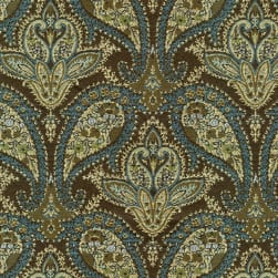 Abbey Shea Marie Jacquard Empire Blue Fabric