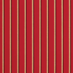 Sunbrella Stripes Harwood Crimson Fabric