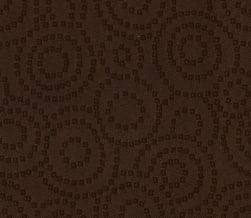 Abbey Shea Radius Jacquard Chocolate Fabric