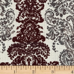 Abbey Shea Elegance Jacquard Boysenberry Fabric