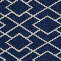 Abbey Shea Commitment Woven Navy Fabric