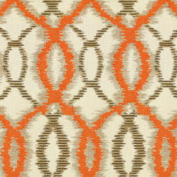 Abbey Shea Worthy Jacquard Celeste Orange Fabric
