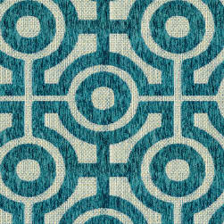 Abbey Shea Benevolent Woven Teal Fabric