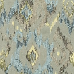 Abbey Shea Lawson Jacquard Blast Off Blue Fabric