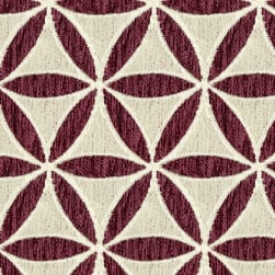 Abbey Shea Turnbow Woven Merlot Fabric