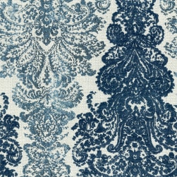 Abbey Shea Elegance Jacquard Bedazzled Blue Fabric