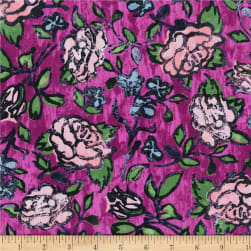 Florabunda Blowsy Rose Bengal Rose Fabric