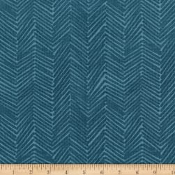 Florabunda Zig Zaggle Faded Denim Fabric