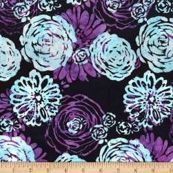 Blossom Batiks Splash Bouquet Amethyst Fabric