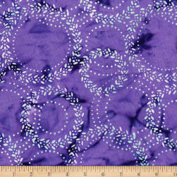 Blossom Batiks Splash Laurel Violet Fabric