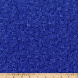 RJR Hopscotch Overlapping Squares Blueberry Fabric