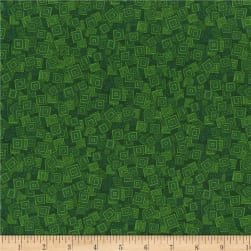 RJR Hopscotch Overlapping Squares Forest Fabric
