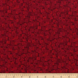 RJR Hopscotch Overlapping Squares Scarlet Fabric