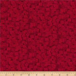 RJR Hopscotch Overlapping Squares Wild Strawberry Fabric