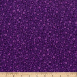 RJR Hopscotch First Flowers Grape Fabric