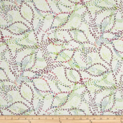 Urban Garden Pathways Red Flax Fabric