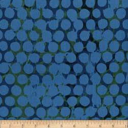 Urban Garden Seed Dot Persian Blue Fabric