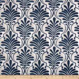 Premier Prints Luxe Outdoor Ecuador Slate Blue Fabric