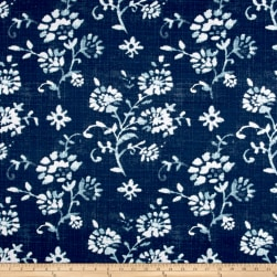 Premier Prints Luxe Outdoor Lenore Zaffre Fabric