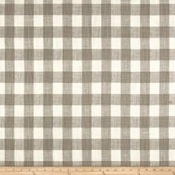 Premier Prints Buffalo Plaid Slub Canvas Ecru Fabric