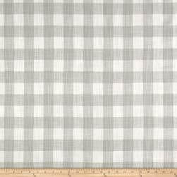 Premier Prints Buffalo Plaid Slub Canvas French Grey